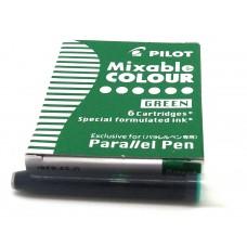 Pilot Parallel Cartridges, 6 Green