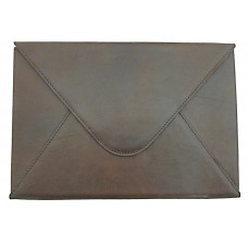 Leather File Folder - Brown