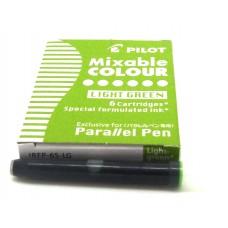 Pilot Parallel Cartridges, 6 Light Green
