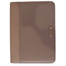 A4 Microfibre Zip Folio with Calculator - Khaki
