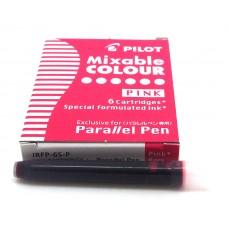 Pilot Parallel Cartridges, 6 Pink