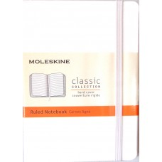 Classic Pocket White Ruled Notebook