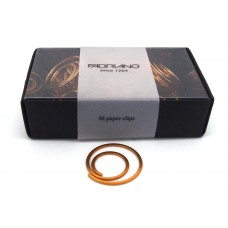 Spiral paper clips - gold, box of 50