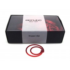 Spiral paper clips - red, box of 50