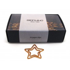 Star paper clips - gold, box of 30