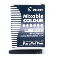 Pilot Parallel Cartridges, 6 Blue-black
