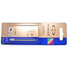 Parker Blue Ink Cartridges, 5 pack