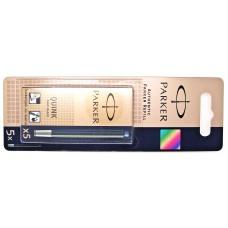Parker Blue Black Ink Cartridges, 5 pack