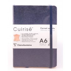 Cuirise Leather Soft Covered A6 Petrol Notebook - Blank