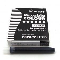 Pilot Parallel Cartridges, 6 Black