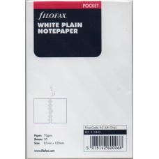 Pocket White Plain Notepaper Refill