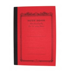 A7 Red lined notebook
