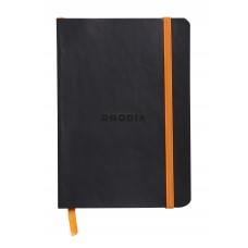 Rhodiarama Softcover Notebook A5 Black - Lined