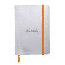 Rhodiarama Softcover Notebook A5 Silver - Dot Grid