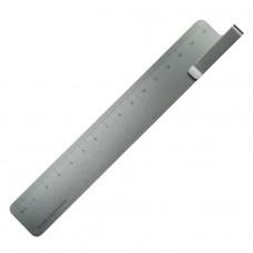 Ruma Ruler and Bookmark - Grey