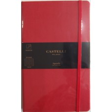 Aquarela Coral Red Ruled A5 Notebook