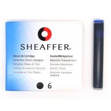 Sheaffer cartridges 6 pack, black