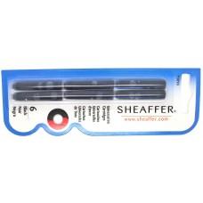 Sheaffer VFM standard cartridges 6 pack, black