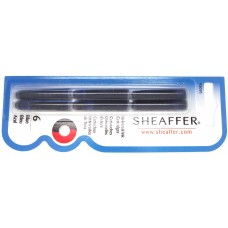 Sheaffer VFM standard cartridges 6 pack, blue