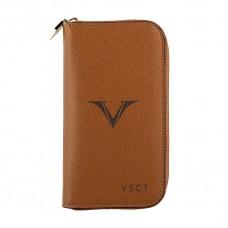 Visconti 3 Pen and Card Case - Cognac