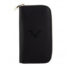 Visconti 3 Pen and Card Case - Black